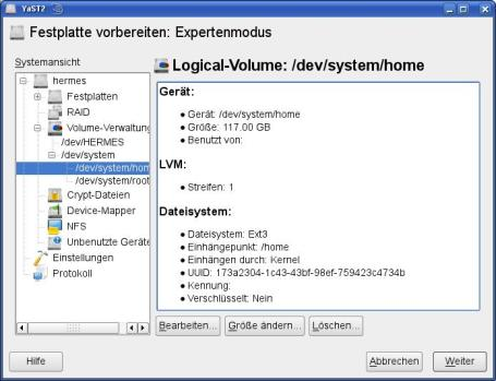 Resizing LVM volumes